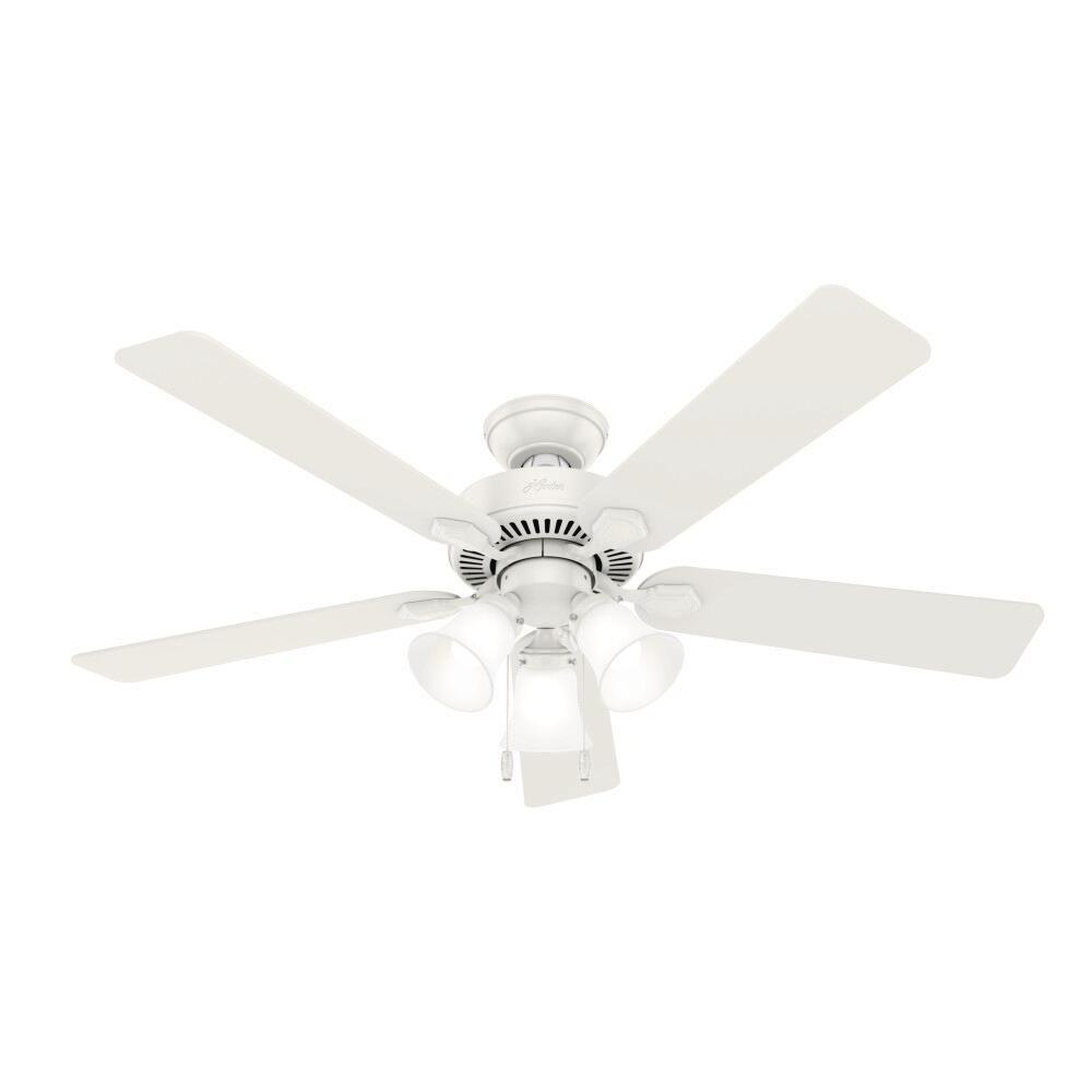 Hunter Swanson 52 Led Fresh White Indoor Ceiling Fan At Menards Ceiling Fan Ceiling Lights Ceiling