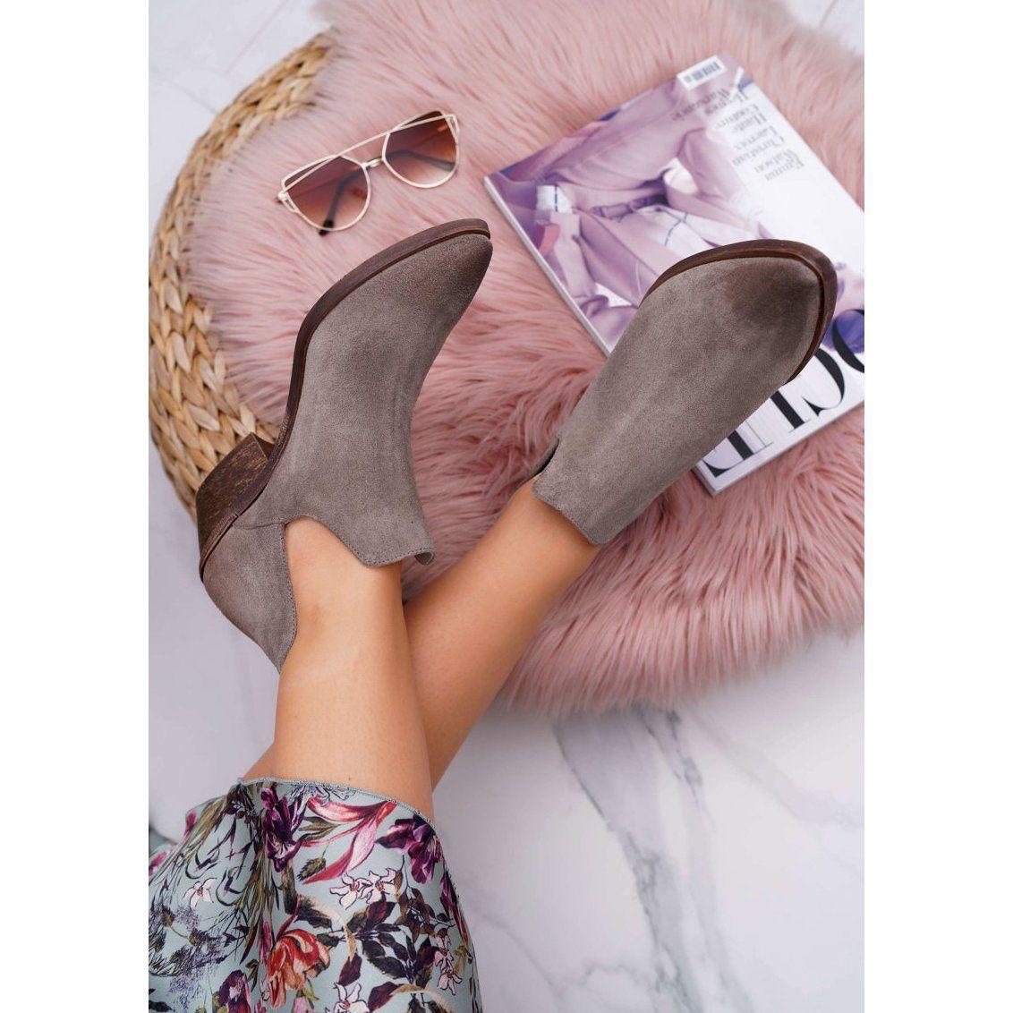 Nicole Botki Damskie Wiosenne Skorzane Cappuccino Anabella Bezowy In 2020 Heels Sandals Heels Shoes