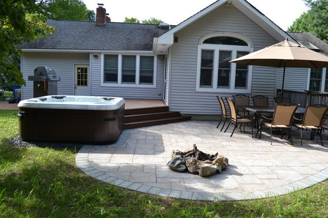 decks and patios with hot tubs - Hot Tub Patio Designs