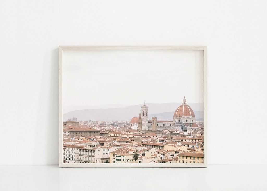 Florence Skyline Landscape Print Looking For Unique Wall Art To Make Your Home Beautiful Click To View More Italy Wall Art Photography Wall Art Florence Art
