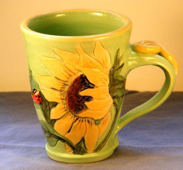 sunflower mug - Google Search