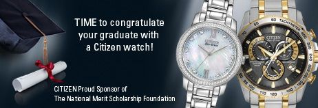 Becker Jewelers has an amazing selection of Men's and Women's Citizen Eco-Drive watches! Find one for your grad today!