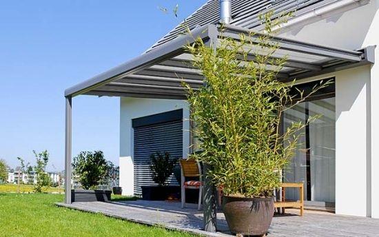 terrassen berdachung aus glas varianten garten. Black Bedroom Furniture Sets. Home Design Ideas