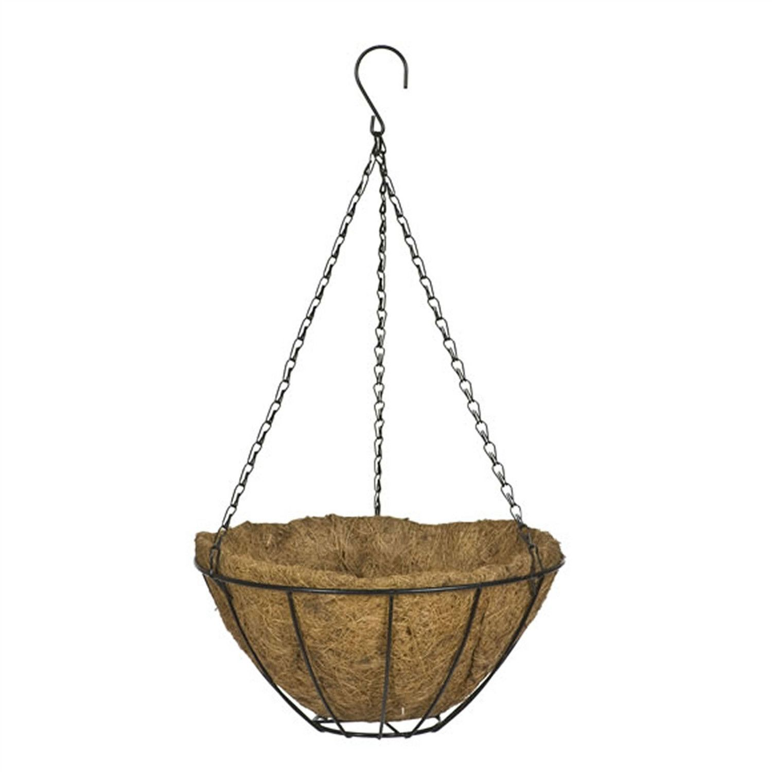 12 Inch Classic Metal Hanging Planter Basket In Black Metal Hanging Planters Hanging Planters Hanging Baskets