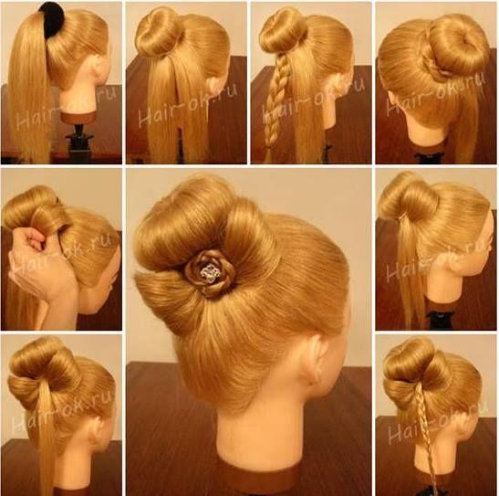 Beatiful Hair Bun Tutorial Hair Styles Braided Bow Hairstyle Bow Hairstyle