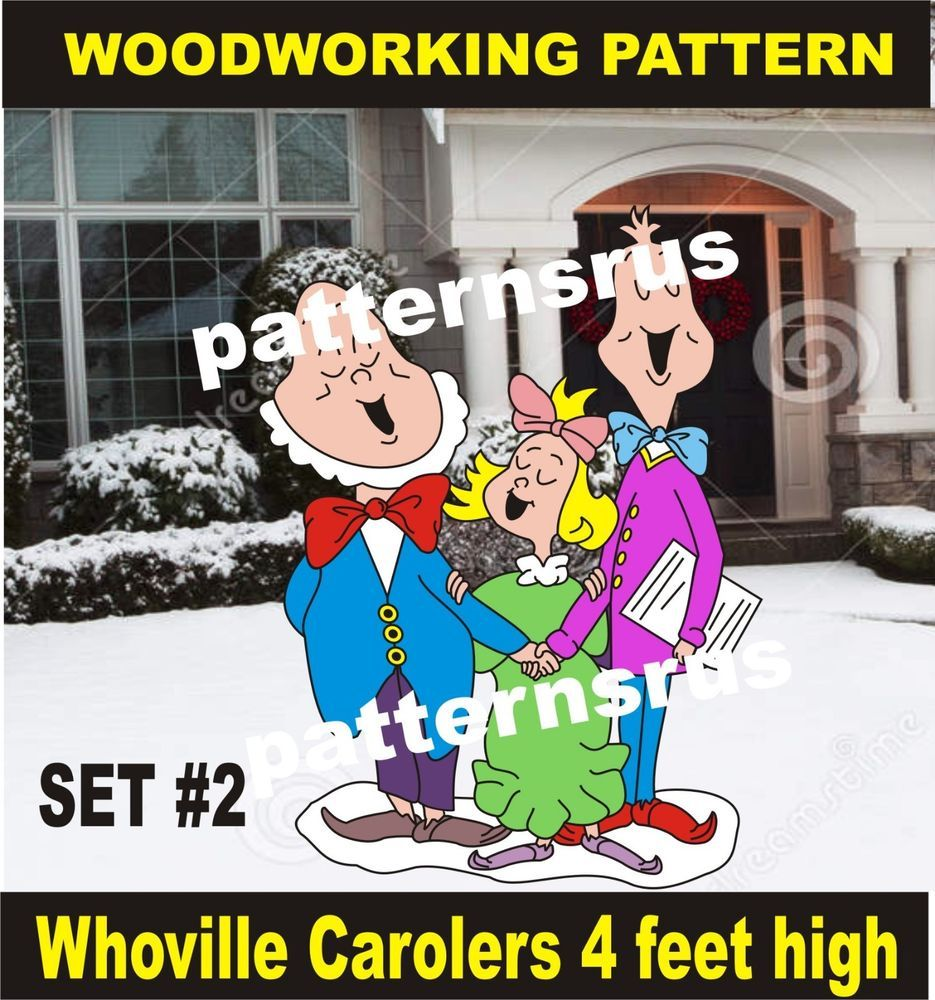 details about whoville carollers grinch woodworking pattern