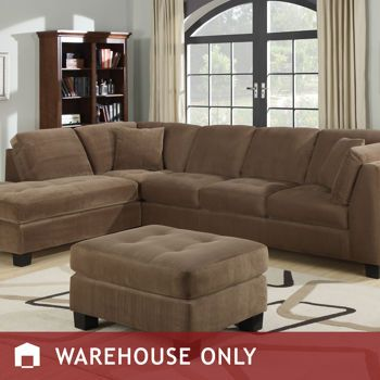 Costco: Madison 3 Piece Fabric Sectional