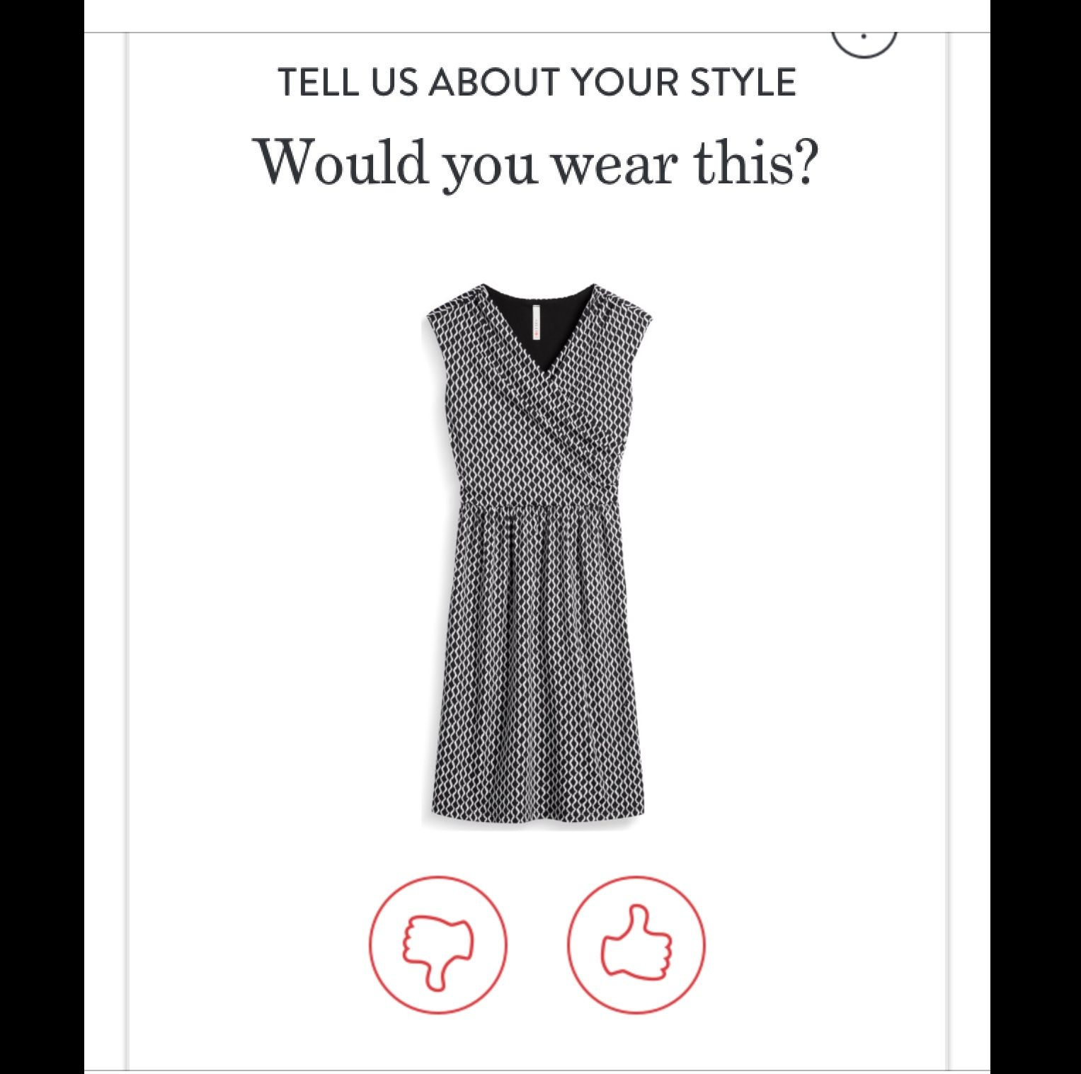 This is a fun dress from the style quiz today what to wear