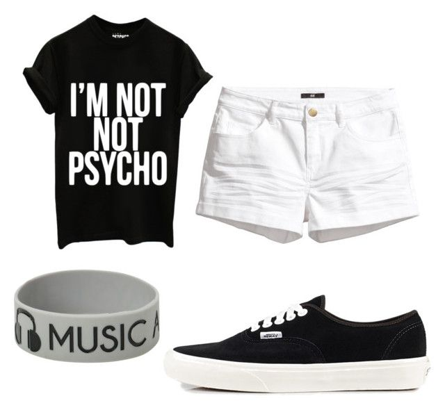 """""""Untitled #321"""" by pinkunicorn007 ❤ liked on Polyvore featuring H&M and Vans"""