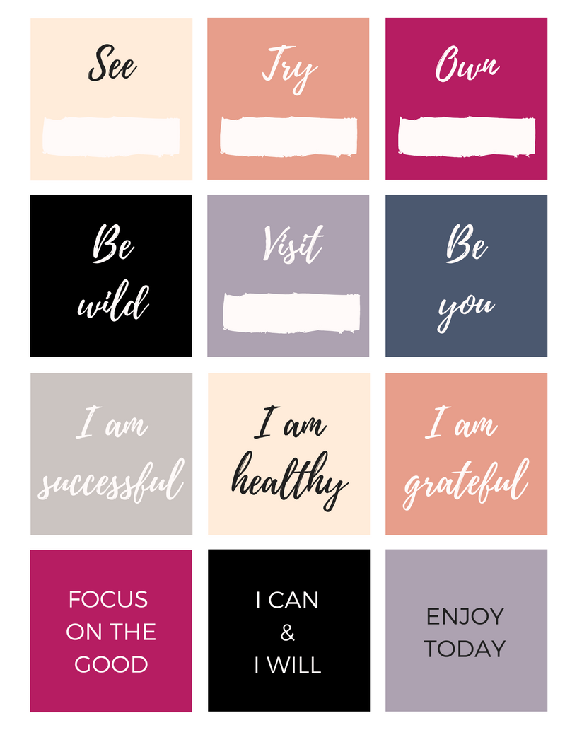 FREE Vision Board Printables #visionboard #freedownload | Staying ...