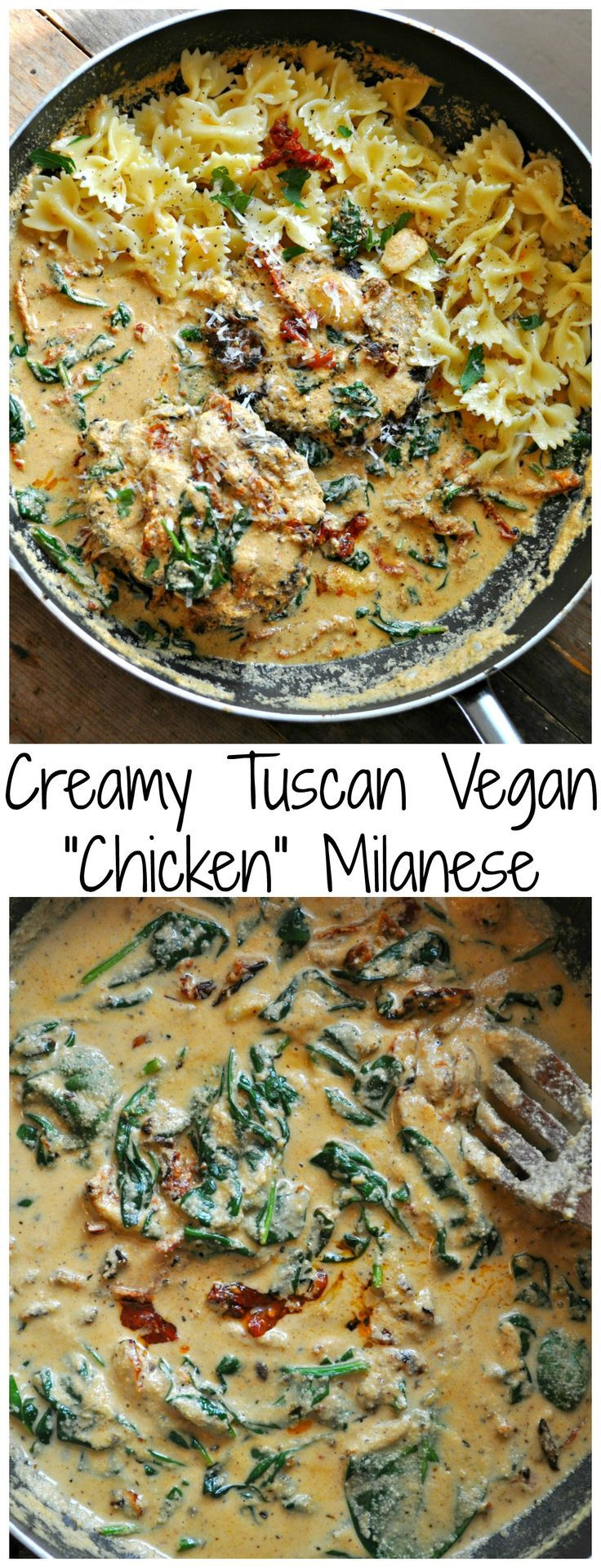 """Photo of Creamy Tuscan Vegan """"Chicken"""" Milanese – Rabbit and Wolves"""