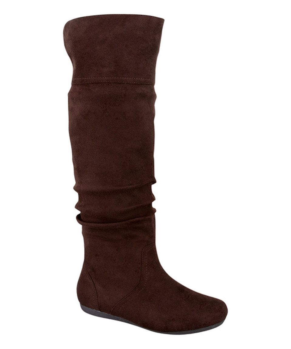 Another great find on #zulily! Brown Fold-Over Bobby Boot by TOP MODA #zulilyfinds