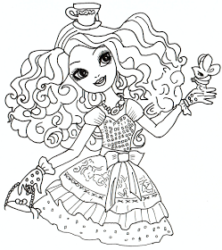 Free Printable Ever After High Coloring Pages Madeline Hatter Sheet