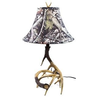 Deer Antler Lamp With Camouflage Shade From Hobby Lobby. With A Different  Shade, I