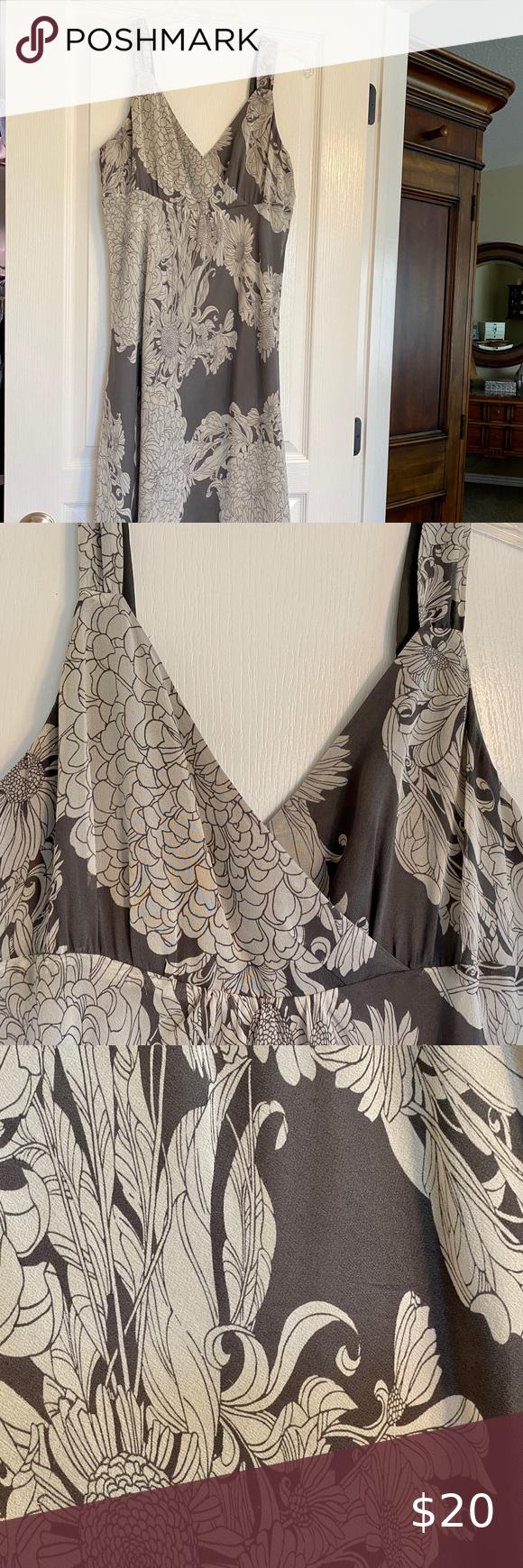 Euc Garnet Hill Summer Dress Size 12 Grey Floral Dress Summer Dresses Size 12 [ 1740 x 580 Pixel ]