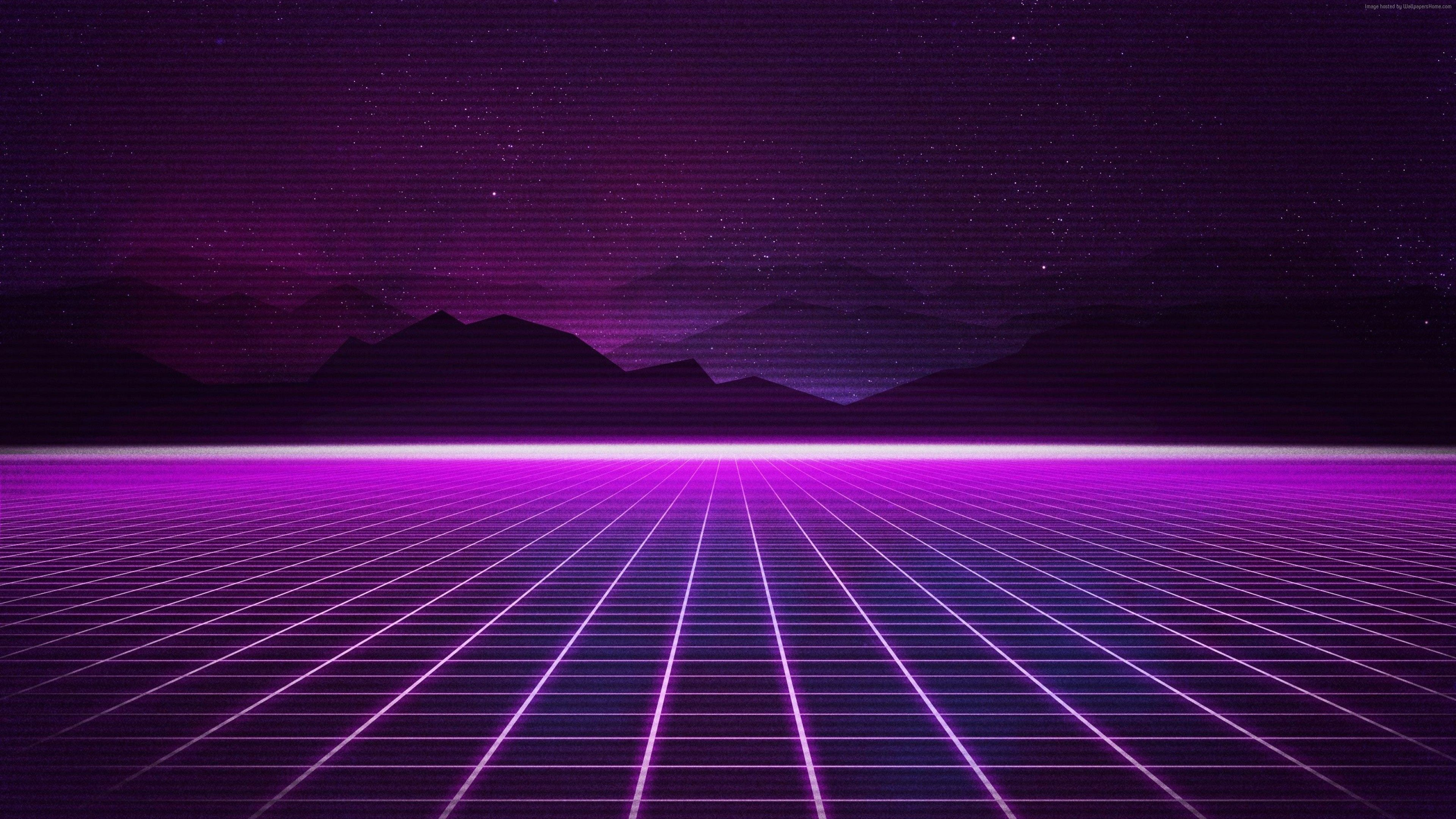 Wallpaper Retrowave Purple Lines 4k Art Https Www Pxwall Com Wallpaper Retrowave Purple Lines 4 Vaporwave Wallpaper Wallpaper Pc 4k Wallpapers For Pc