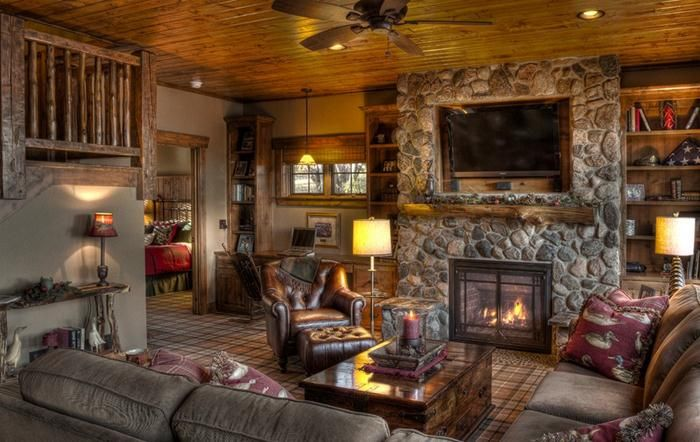 Rustic Home Decorating Ideas Glamour Rustic House Mountain Home