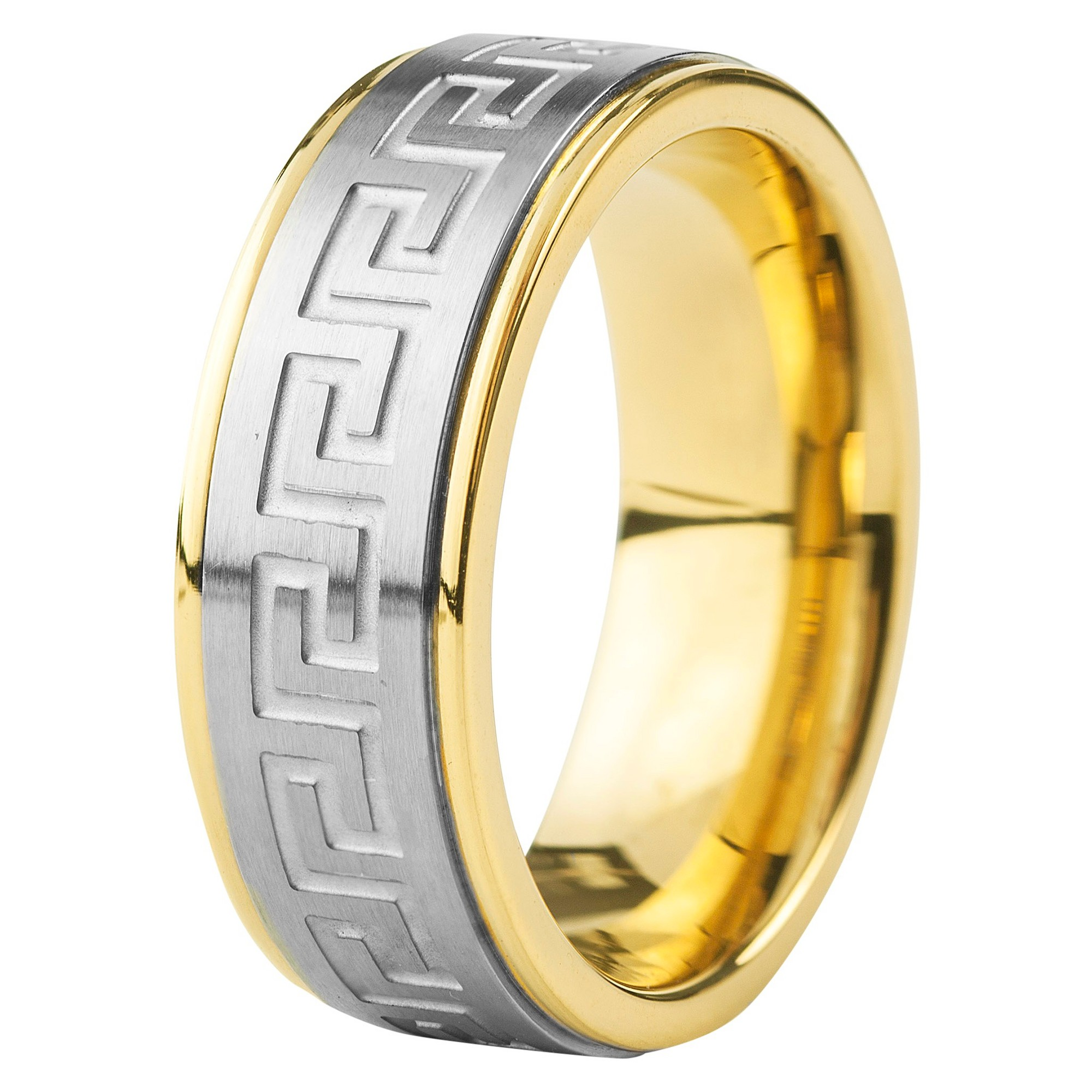 Men S Crucible Goldplated Stainless Steel Silvertone Maze
