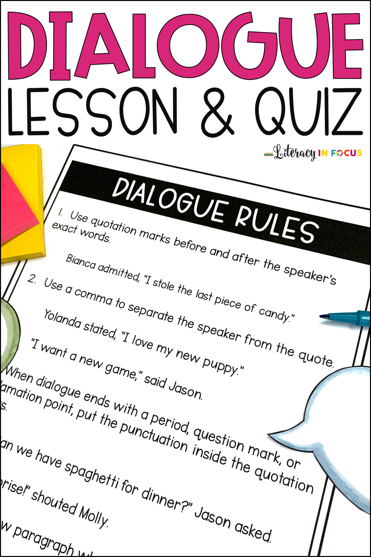 Comprehensive Dialogue Lesson Plan Teach Your Students