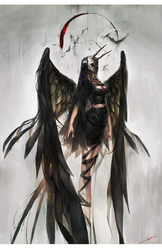 angel Anime girl dark