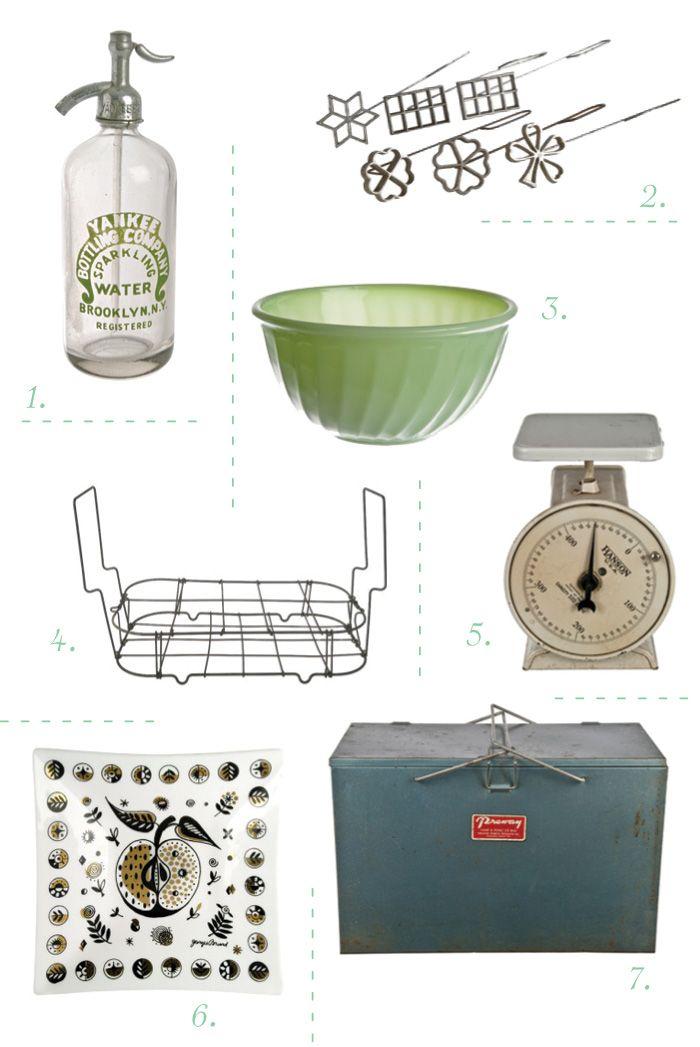 Superbe {my Favorite Vintage Items From Relique: 1. Seltzer Bottle 2. Rosette Irons  · Vintage Kitchen AccessoriesUnique ...