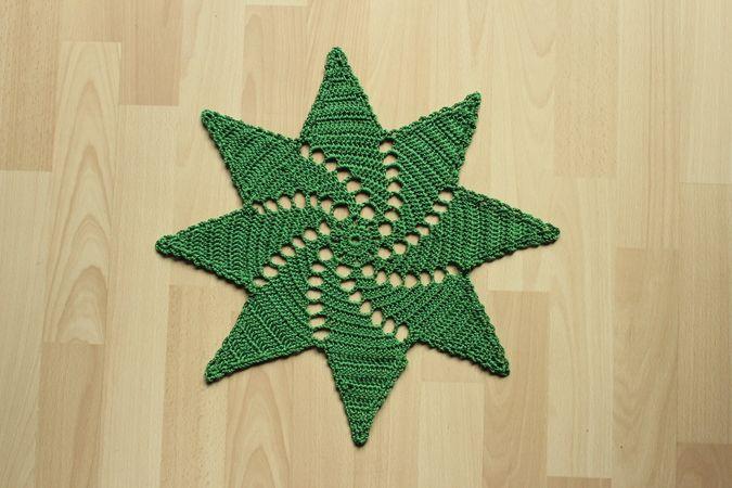 Weihnachtsdeckchen Stern Weihnachten Häkeln Häkelanleitung