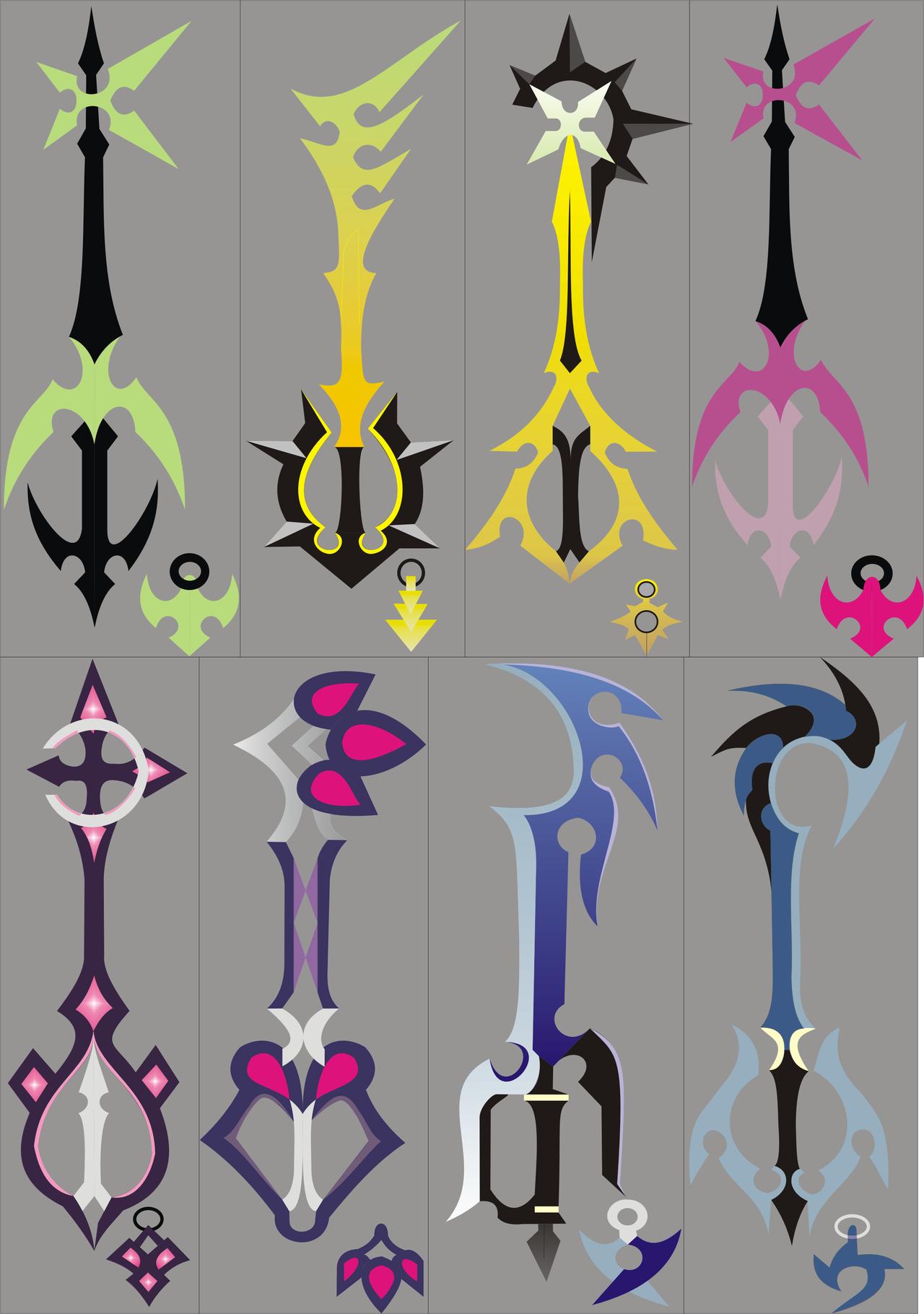 Kingdom Hearts List of Keyblades Kingdom Hearts 1 Keyblade List