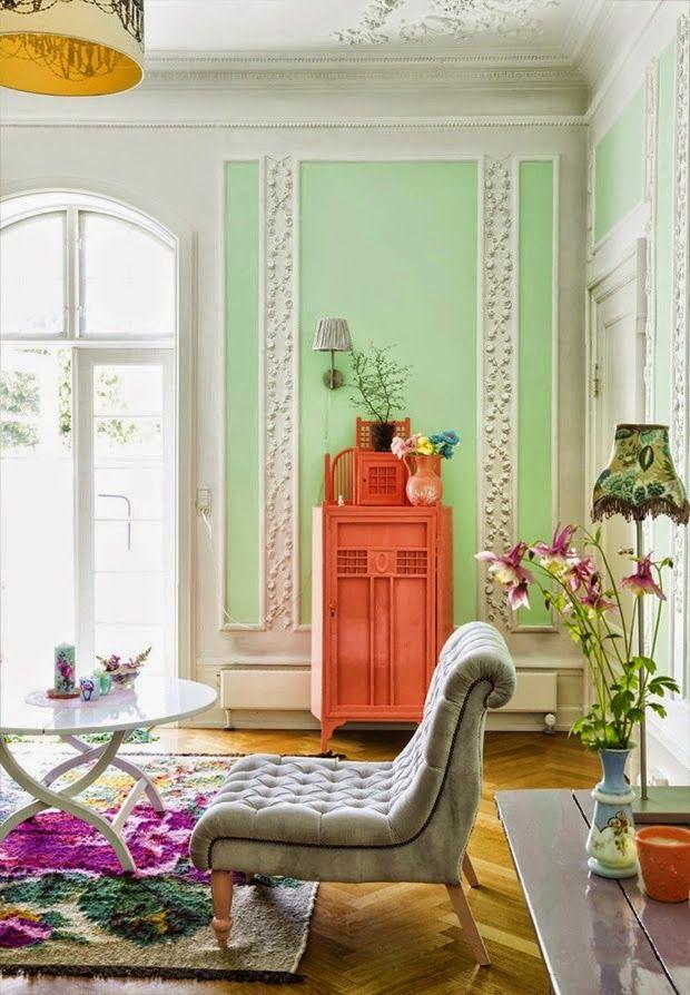Cliquez sur les liens pour lire les articles en entier. - Jolies demeures - Ambiance éclectique et colorée au Danemark