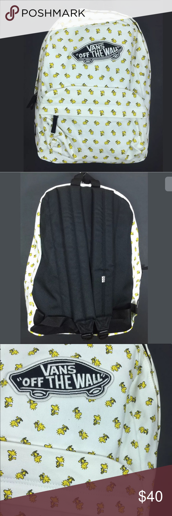 ccae72048b6 NEW Vans X Peanuts Woodstock Backpack White NWT One brand new with tags Vans  X Peanuts