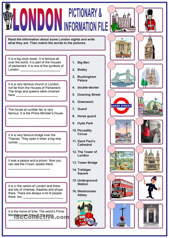 London Travel Video Guide Worksheet