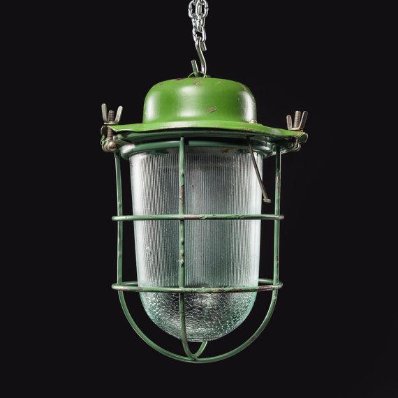 Vintage Industrial European Pendant Light Fixture by FIXTelectric