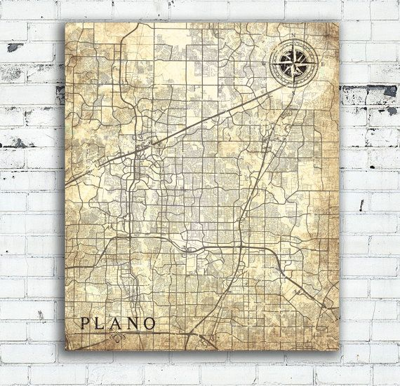 home decor stores plano tx plano tx canvas print tx vintage map city vintage 12616