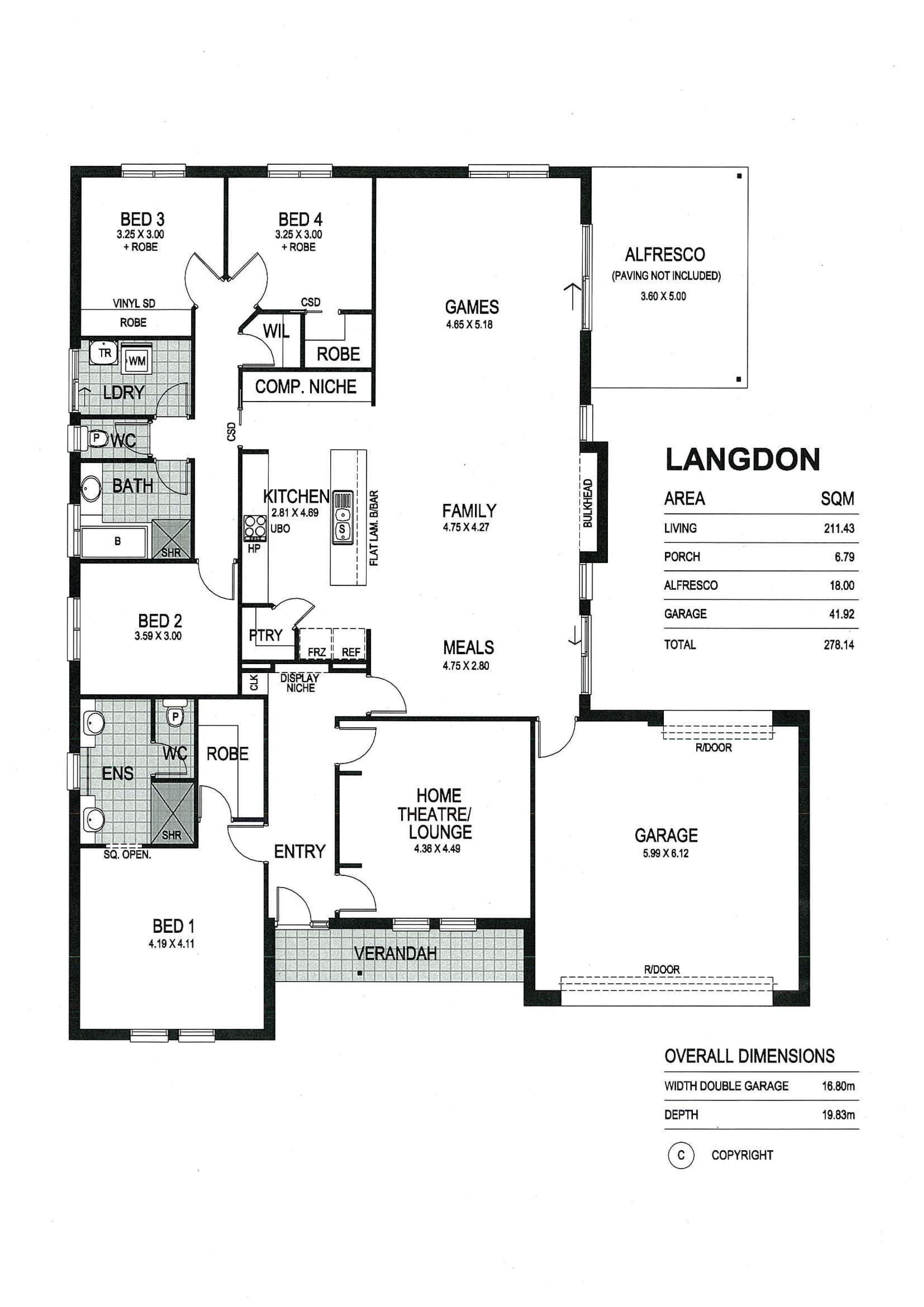 Floor Plans Of Langdon By Fairmont Homes