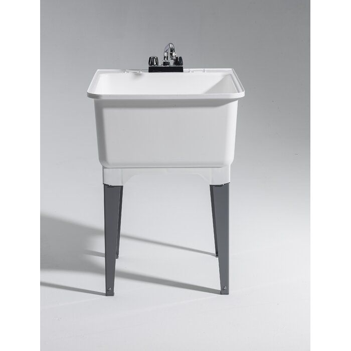 22 75 X 25 25 Freestanding Laundry Sink With Faucet Laundry