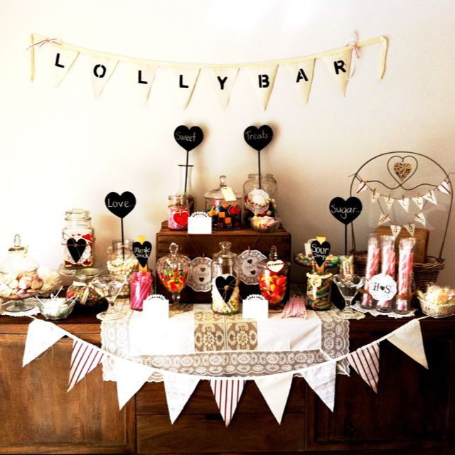 Birthday Party Buffet Table: Vintage Birthday Cakes, Rustic