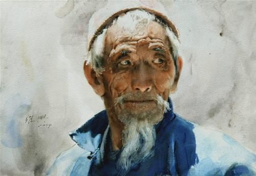 Guan Weixing Un Grand Aquarelliste Chinois L Art Du Portrait