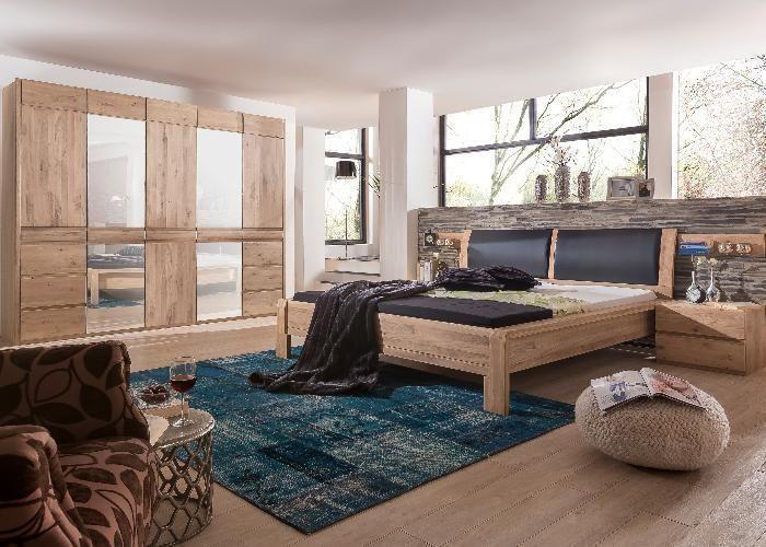 Schlafzimmer Komplett Ottawa aus massiver Eiche im trendigen