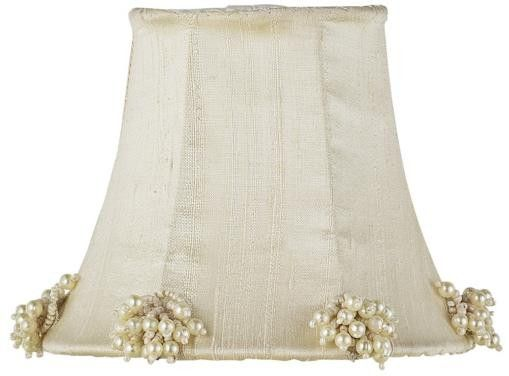 Ivory Pearl Cluster Lamp Shades Large -- just gathering some ideas.