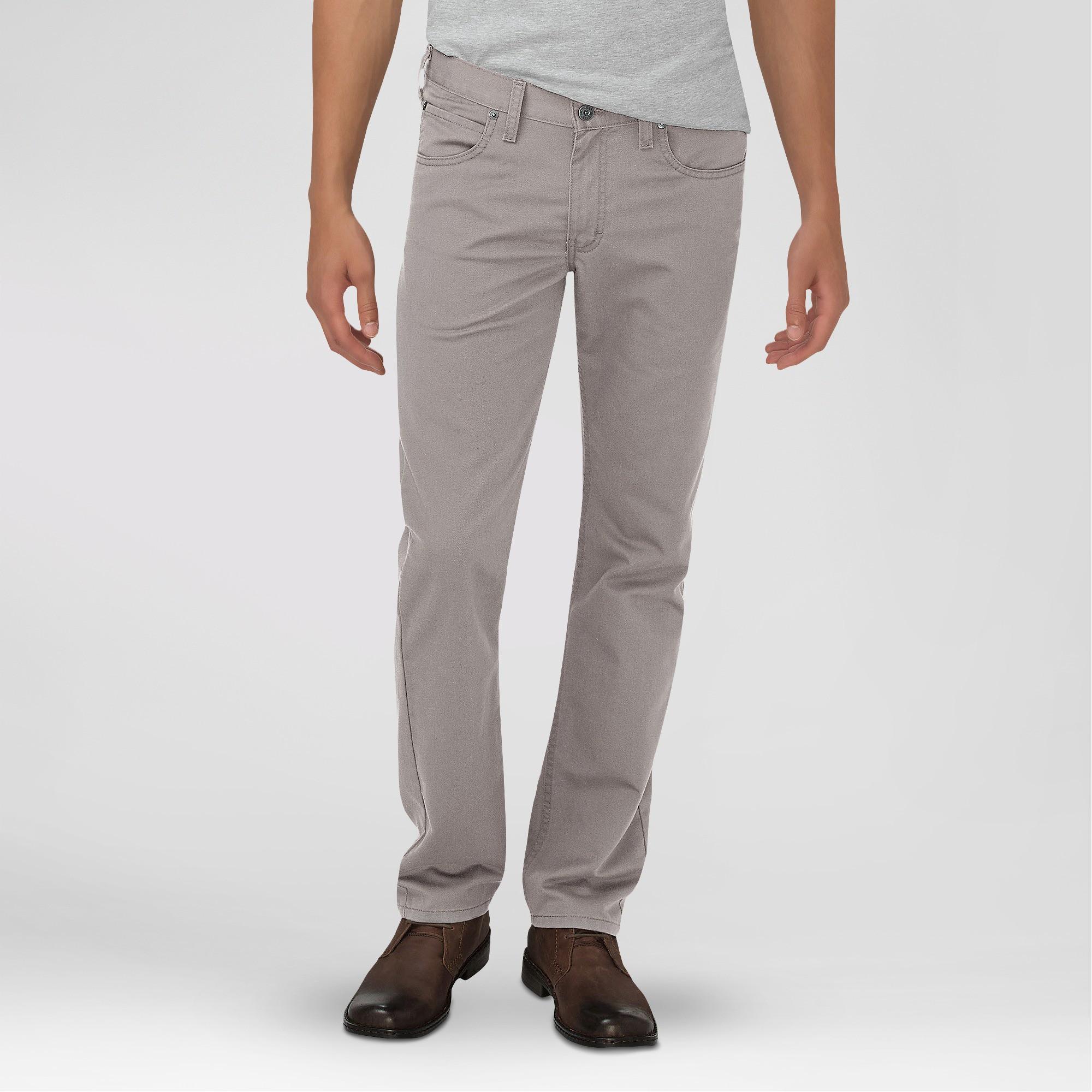 Dickies mens slim fit taper leg 5pocket pants silver