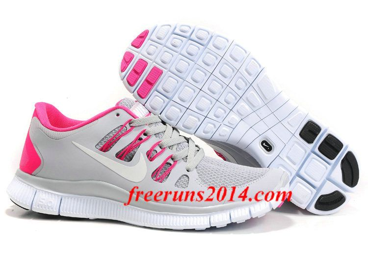 quality design 19be1 bd1fd Womens Gray Pink Nike Free Running Shoes Discount for Grils in Summer 2014