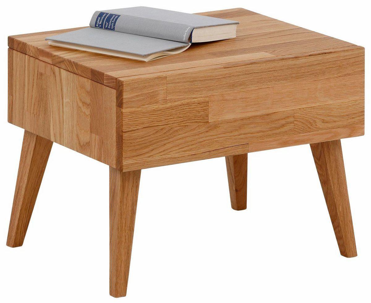 Nachttisch Natali Mit Einer Schublade Aus Massiver Eiche