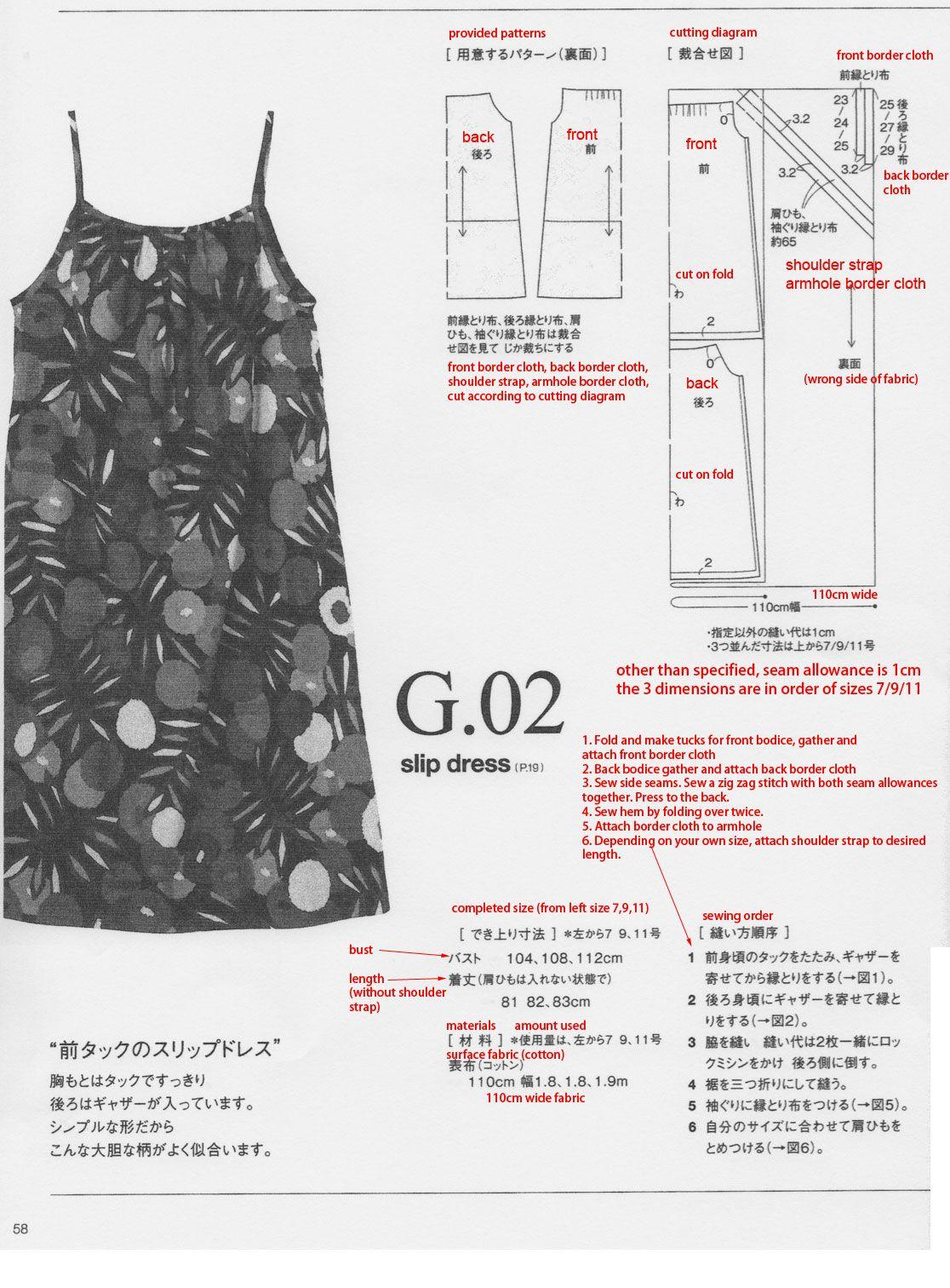 slip dress tutorial | Free sewing : for women | Pinterest | Nähen ...