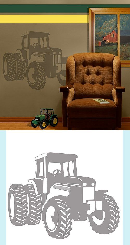 tractor - sudden shadows wall decals - wall sticker outlet | gabe's