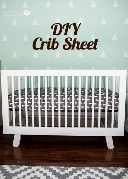 Crib Sheet DIY - You (yes, you!) Can Do It | Pinterest | Nähprojekte ...