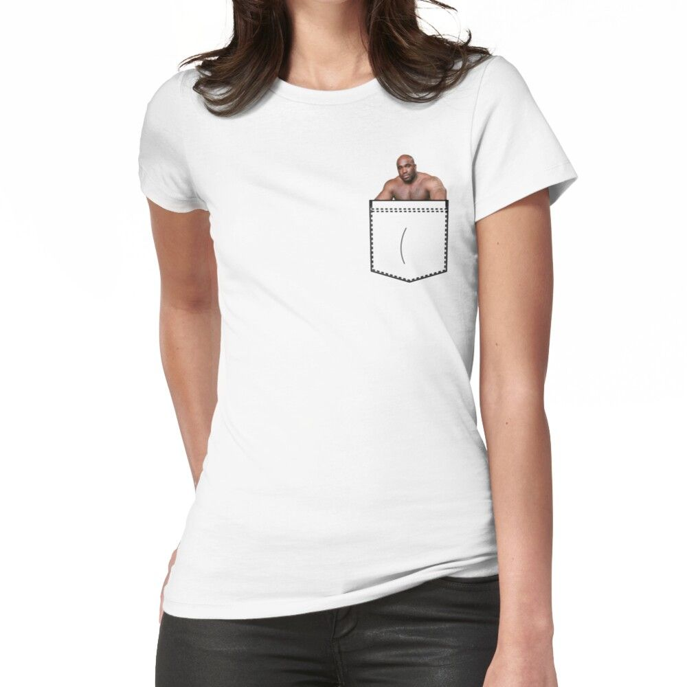 Pocket Barry Wood Women's Fitted T-shirt by AlmondArtsy