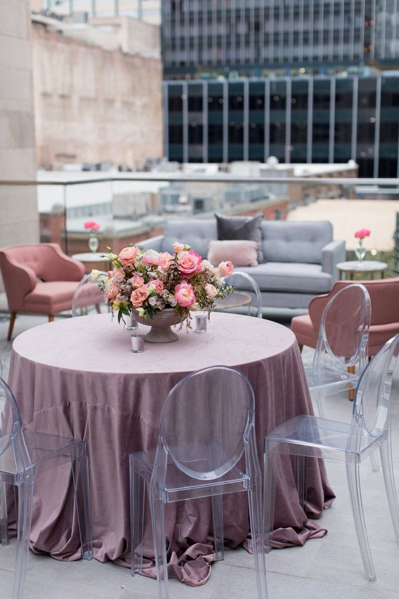 Wedding reception photos at the The Joule in Dallas, Texas