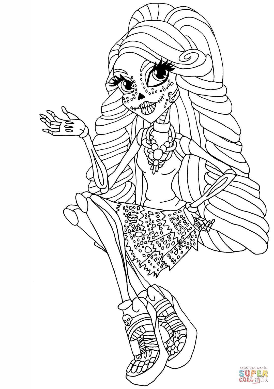Cool Skelita | Super Coloring | 2 Color * Monster High | Pinterest