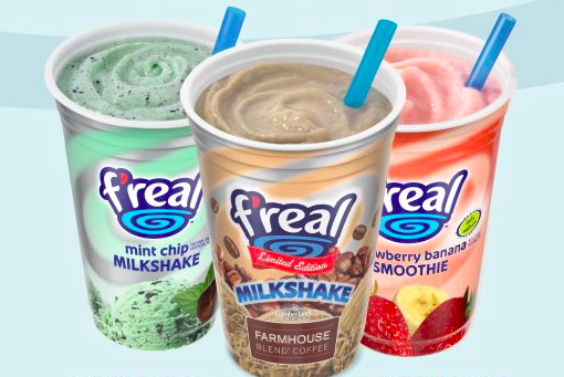 The Mint Chip Farmhouse Blend Coffee F Real Milkshakes And The Strawberry Banana Smoothie Are What Drea Junk Food Snacks Milkshake Strawberry Banana Smoothie