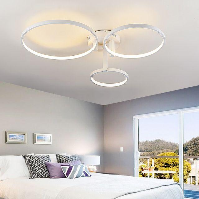 Moderne anneau plafond lampe led acrylique plafonnier creative art clairage pour chambre salle - Plafonnier pour salle a manger ...