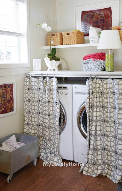 Hide Washer And Dryer With Curtain Washing Machine Placement